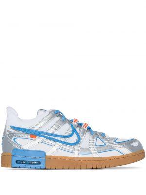 Niebieskie sneakersy skorzane Nike X Off White