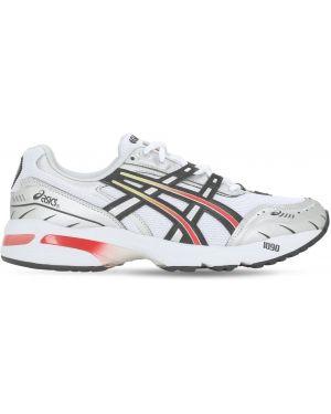 Кожаные кроссовки сетчатые на шнуровке Asics
