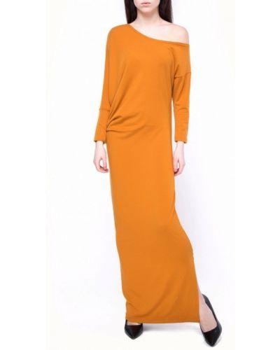 Оранжевое повседневное платье Vergans