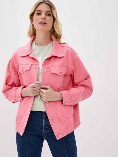 Джинсовая куртка осенняя розовая Pinkkarrot