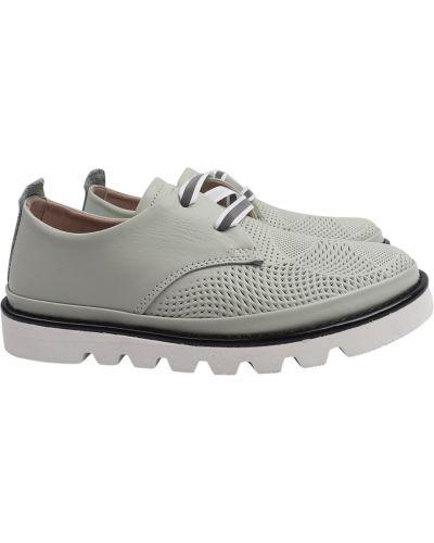 Кожаные туфли - мятные Guero