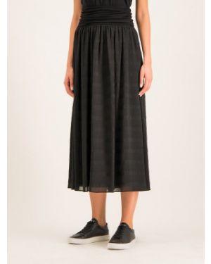 Czarna spódnica z wiskozy Dkny