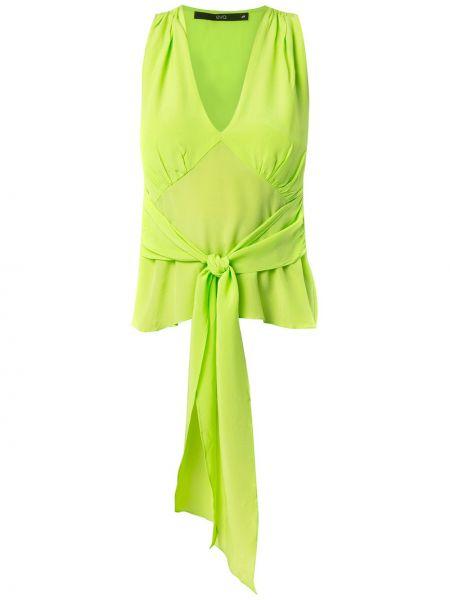 Шелковая блузка - зеленая Eva