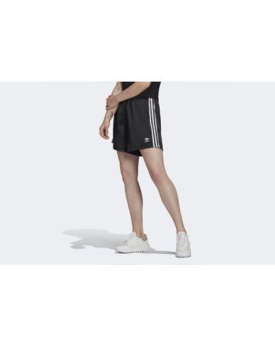 Satynowe szorty - czarne Adidas