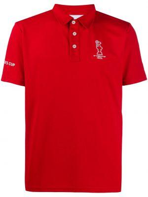 С рукавами классическая красная классическая рубашка с воротником Prada