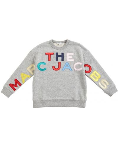Серая кофта с вырезом Little Marc Jacobs