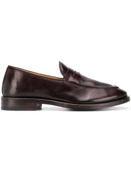 Brązowe loafers skorzane kaskadowe Alberto Fasciani