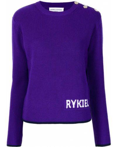 Фиолетовый джемпер на пуговицах Sonia Rykiel