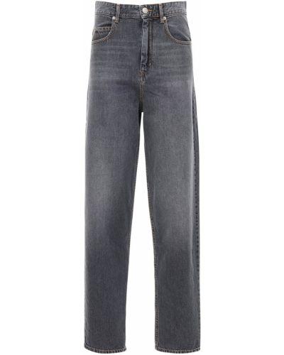 С завышенной талией серые джинсы с высокой посадкой на пуговицах Isabel Marant Étoile