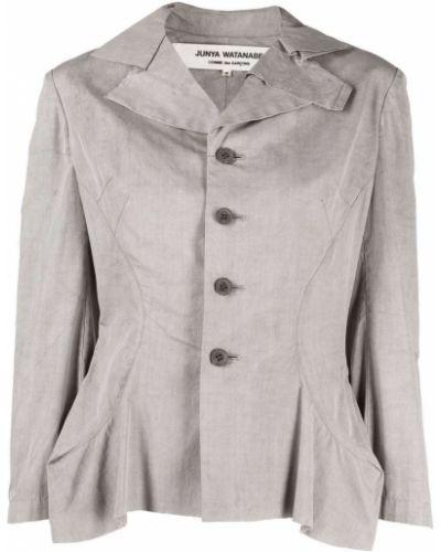 Серый удлиненный пиджак с воротником с баской Junya Watanabe Comme Des Garçons Pre-owned