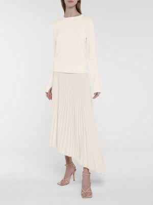 Белый кашемировый свитер Joseph