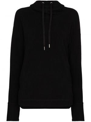 Czarna bluza długa z kapturem z długimi rękawami Sweaty Betty