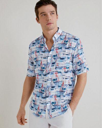 Рубашка с короткими рукавами синий Mango Man