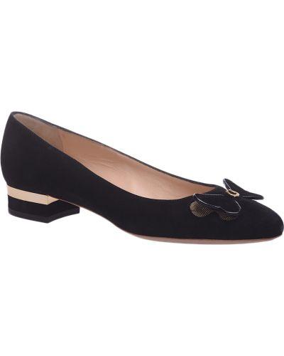 Кожаные туфли на каблуке замшевые Pakerson
