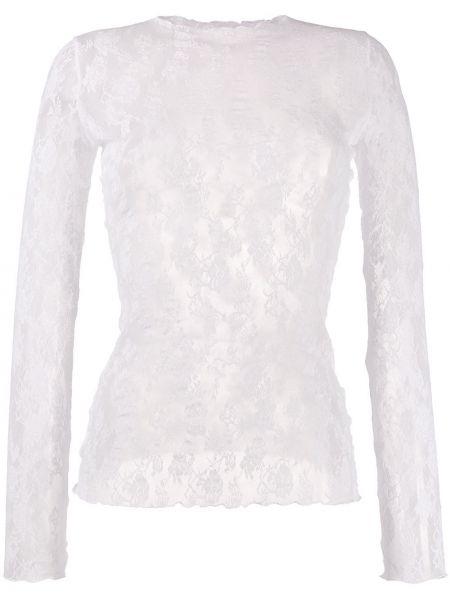 Пуловер белый прямой Wolford