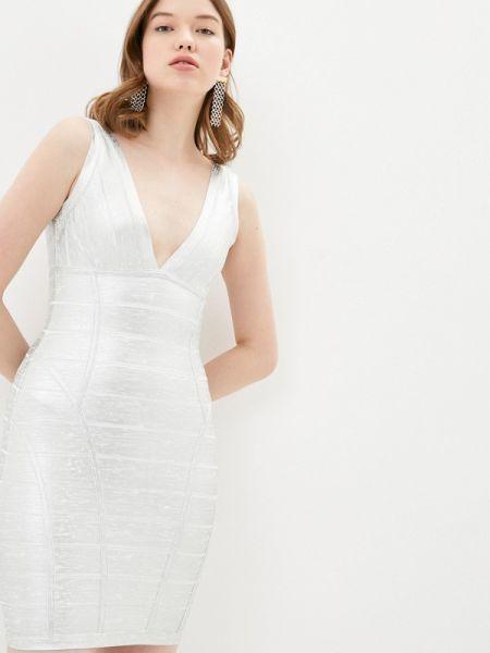 Платье футляр серебряный Soky & Soka