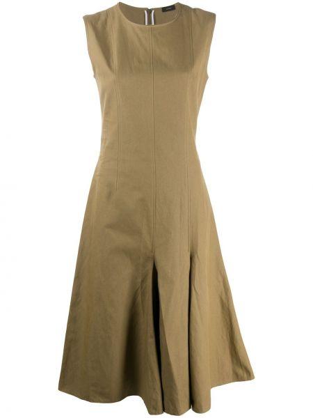 Зеленое платье с вырезом без рукавов Joseph