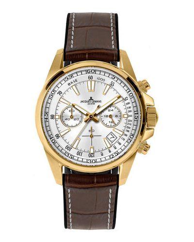 Zegarek - brązowy Jacques Lemans