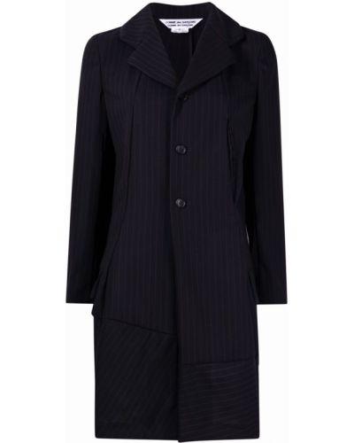 Прямой синий классический пиджак с воротником Comme Des Garçons Comme Des Garçons