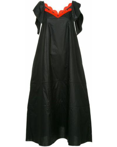 Платье на бретелях черное Vika Gazinskaya