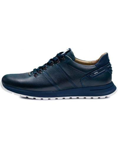 Кожаные кроссовки - синие Bumer