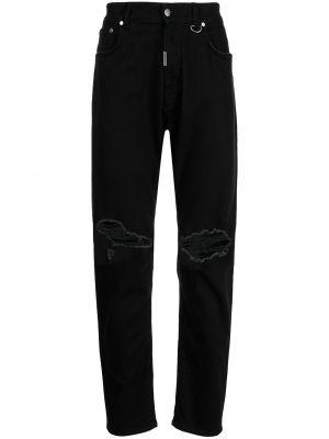 Czarne mom jeans bawełniane Represent