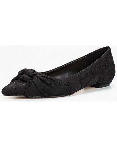 Черные балетки с острым носком Mango