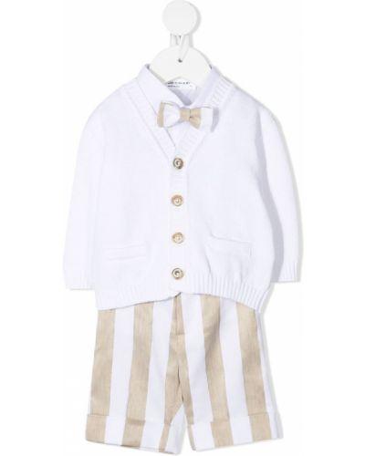 Beżowy garnitur w paski bawełniany Colorichiari