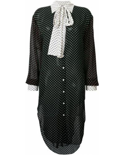 Платье миди рубашка вязаное в горошек Twin-set