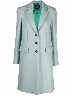 Синее кашемировое пальто Ps Paul Smith