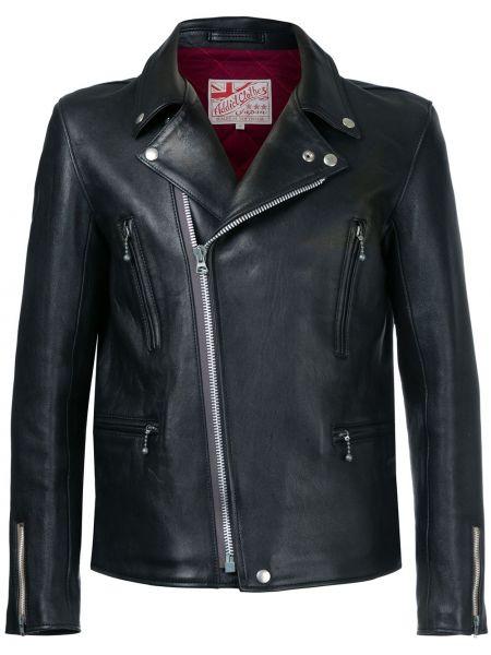 Кожаная черная кожаная куртка байкерская Addict Clothes Japan