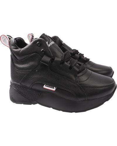 Кожаные ботинки - черные Masheros