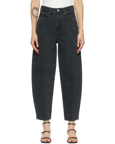 Czarny jeansy z kieszeniami Agolde