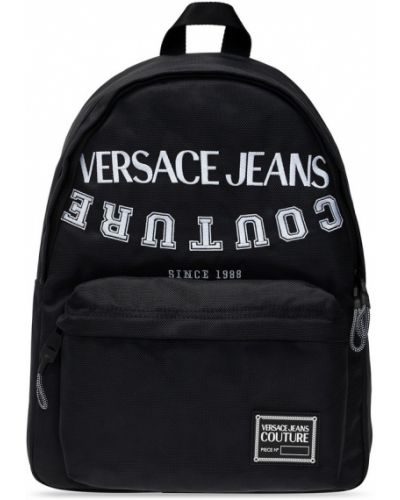 Biały plecak z haftem Versace Jeans Couture