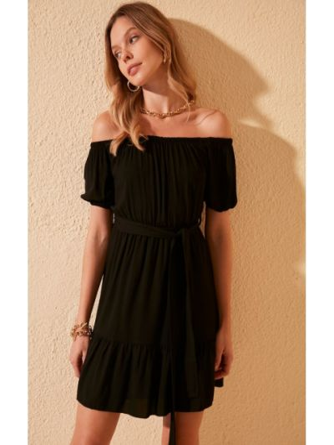 Sukienka mini - czarna Trendyol