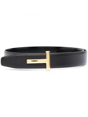 Черный кожаный ремень с пряжкой Tom Ford