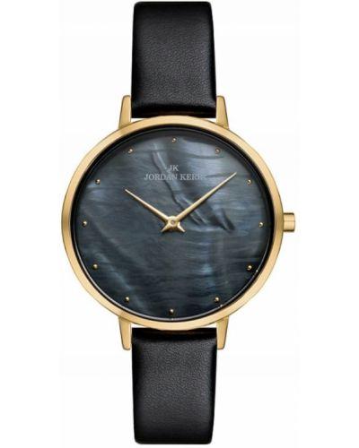 Klasyczny czarny złoty zegarek Jordan Kerr