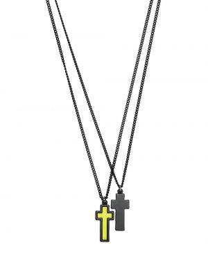 Черное ожерелье с подвесками Dsquared2
