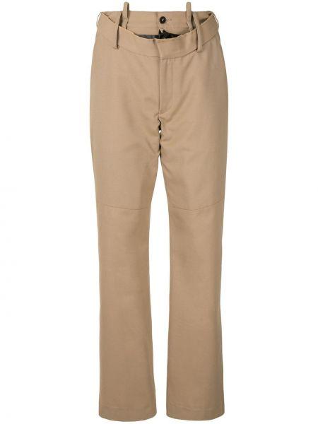 Шерстяные прямые брюки на молнии Delada