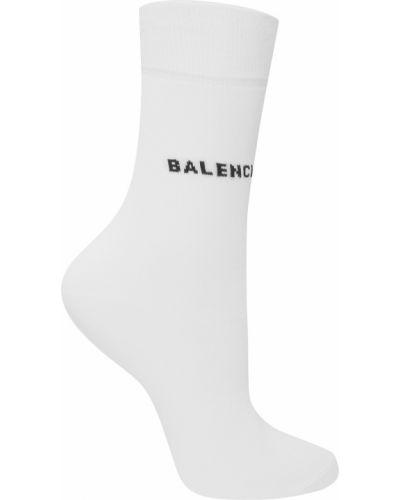 Белые колготки в рубчик Balenciaga