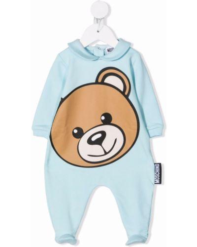 Klasyczny garnitur - niebieski Moschino Kids