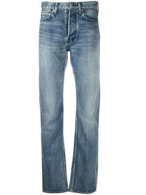Niebieskie jeansy z paskiem bawełniane Ambush