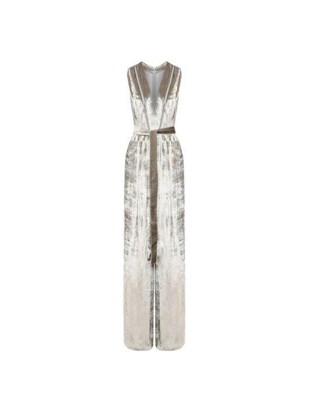 Комбинезон вечерний бархатный прозрачный Bottega Veneta