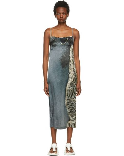 Satynowa sukienka Serapis