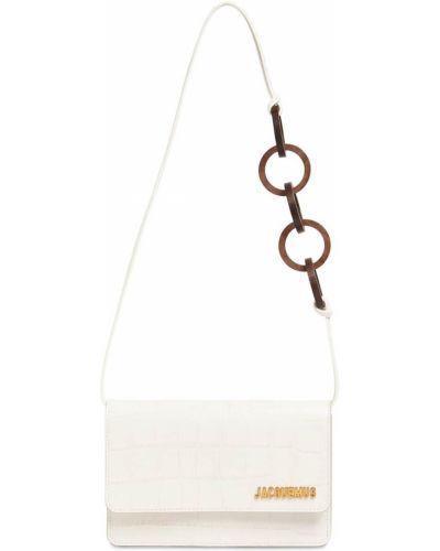 Кожаная белая сумка с тиснением Jacquemus