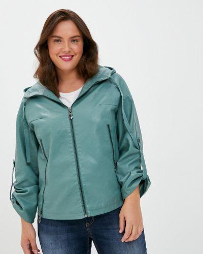 Кожаная зеленая кожаная куртка Grafinia