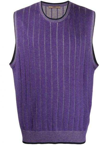 Топ фиолетовый без рукавов Emanuel Ungaro Pre-owned