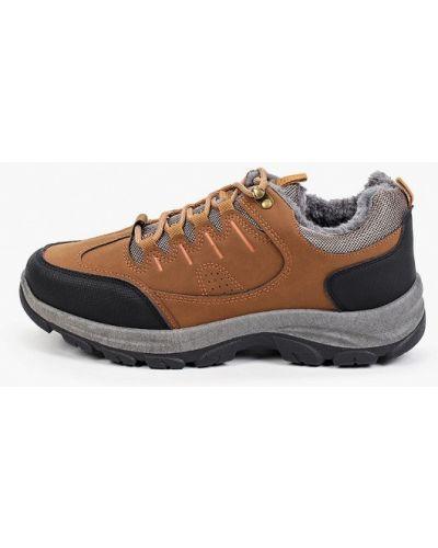 Коричневые кожаные ботинки Patrol