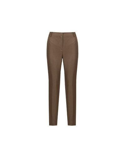 Коричневые зауженные брюки Luisa Spagnoli