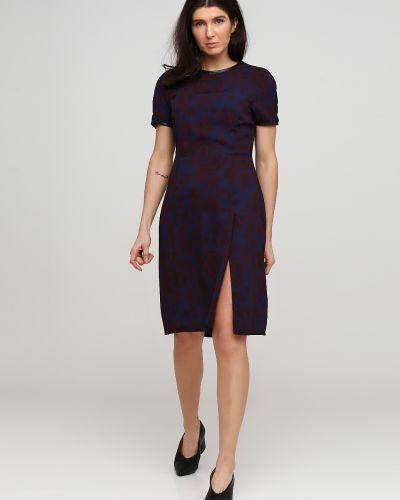 Синее платье мини с разрезом с короткими рукавами Kookai